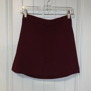EXPRESS burgundy skirt